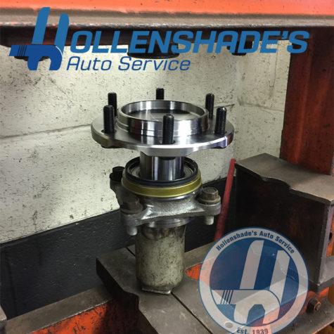 Wheel bearing and hub flange press installation