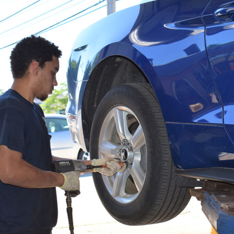 Tire Rotation and Service at Hollenshades in Towson by Christian